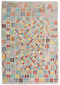 Kilim Afghan Old Style Alfombra 170X244 Oriental Tejida A Mano Gris Claro/Beige Oscuro (Lana, Afganistán)