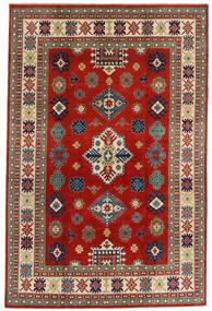 Kazak Alfombra 198X302 Oriental Hecha A Mano Rojo Oscuro/Óxido/Roja (Lana, Afganistán)