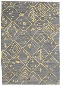 Kilim Ariana Alfombra 203X287 Moderna Tejida A Mano Gris Oscuro/Gris Claro (Lana, Afganistán)