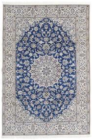 Nain 9La Alfombra 203X297 Oriental Hecha A Mano Gris Claro/Beige (Lana/Seda, Persia/Irán)