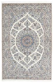 Nain 9La Alfombra 165X247 Oriental Hecha A Mano Gris Claro/Beige (Lana/Seda, Persia/Irán)