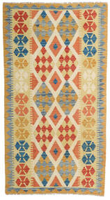 Kilim Afghan Old Style Alfombra 110X200 Oriental Tejida A Mano Beige Oscuro/Roja (Lana, Afganistán)