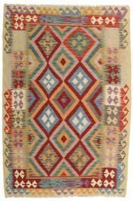 Kilim Afghan Old Style Alfombra 129X190 Oriental Tejida A Mano Rojo Oscuro/Beige Oscuro (Lana, Afganistán)