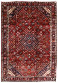 Mashad Alfombra 207X300 Oriental Hecha A Mano Rojo Oscuro/Gris Oscuro (Lana, Persia/Irán)