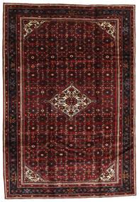 Hosseinabad Alfombra 205X295 Oriental Hecha A Mano Rojo Oscuro/Marrón Oscuro (Lana, Persia/Irán)