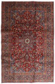 Mashad Alfombra 198X301 Oriental Hecha A Mano Rojo Oscuro/Gris Oscuro (Lana, Persia/Irán)