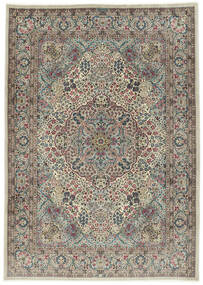 Kerman Sherkat Farsh Alfombra 250X350 Oriental Hecha A Mano Gris Claro/Gris Oscuro Grande (Lana/Seda, Persia/Irán)