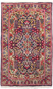 Kerman Alfombra 91X150 Oriental Hecha A Mano Rojo Oscuro/Púrpura Oscuro (Lana, Persia/Irán)