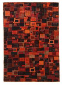 Gabbeh Loribaft Alfombra 134X195 Moderna Hecha A Mano Rojo Oscuro/Marrón Oscuro (Lana, India)