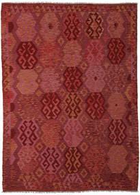 Kilim Afghan Old Style Alfombra 210X289 Oriental Tejida A Mano Rojo Oscuro (Lana, Afganistán)