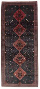 Hamadan Alfombra 156X361 Oriental Hecha A Mano Negro/Marrón Oscuro (Lana, Persia/Irán)