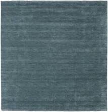 Handloom Fringes - Secundario Alfombra 250X250 Moderna Cuadrada Azul Oscuro Grande (Lana, India)